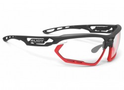 RUDY PROJECT FOTONYK BLACK-RED FLUO BUMPERS IMPACTX2 PHOTOCHROMIC BLACK